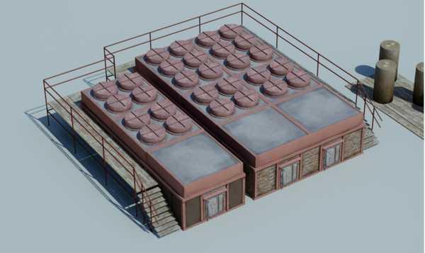 Завод  по производству древесного угля. Установка со съемными ретортами