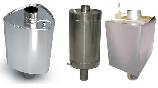 Баки на трубу могут быть разного объема и конфигурации