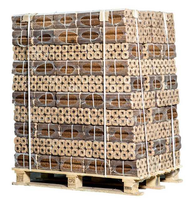 Экструдерные брикеты из лузги подсолнечника Pini-Kay (пиникей)