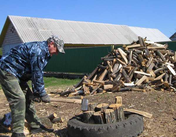 Народное приспособление для колки дров