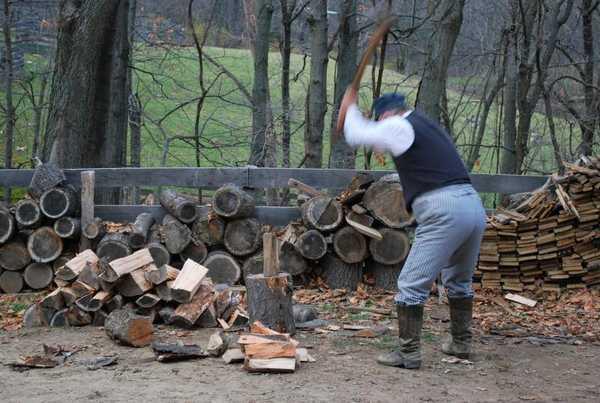 Как правильно колоть дрова: правильная стойка