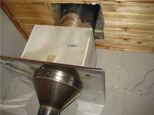 Потолочно-проходной узел в бане своими руками