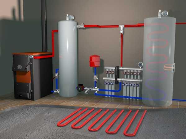 Теплые полы в бане можно сделать электрические или водяные