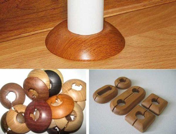 Декоративные кольца для труб отопления