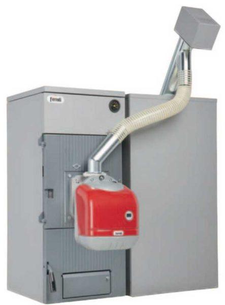 К любому твердотопливному ктлу можно приобрести комплект для сжигания пеллет: горелку, шнек/компрессор и бункер
