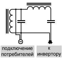 Силовой резонансный фильтр высших гармоник