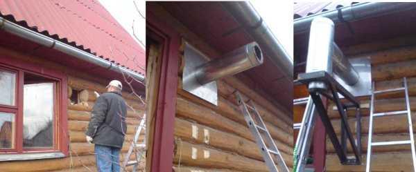 Как вывести дымоход через стену