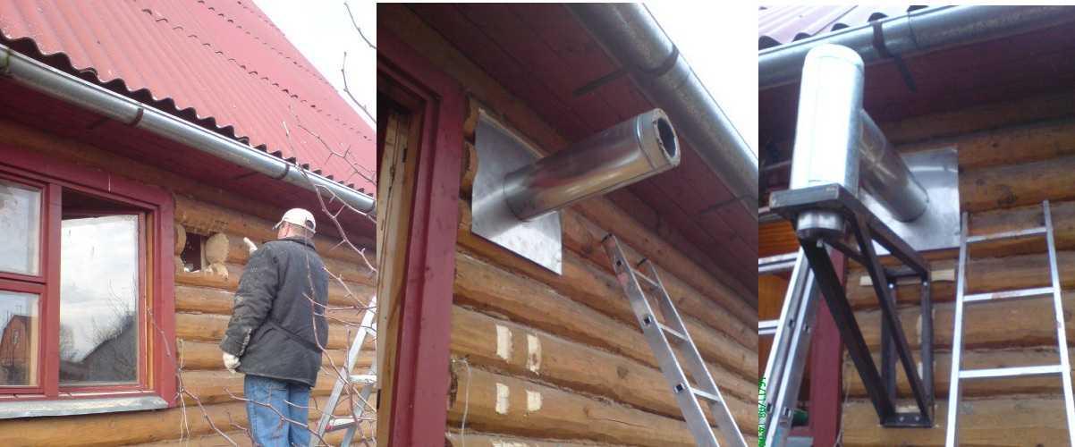 Как крепить трубу дымохода к печке стяжной хомут для дымохода