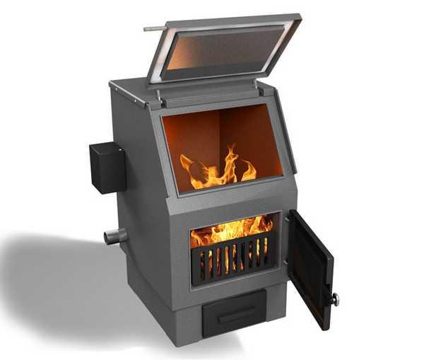 Традиционный угольный котел использует принцип нижнего горения