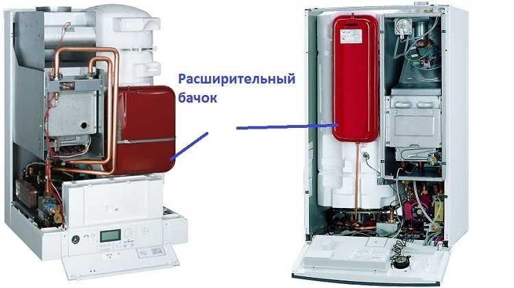 В настенных газовых котлах расширительный бачок встроенный