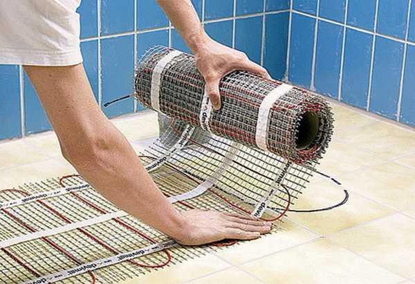 Маты из греющего кабеля - этот тот же резистивный кабель, но закрепленный на полимерной сетке