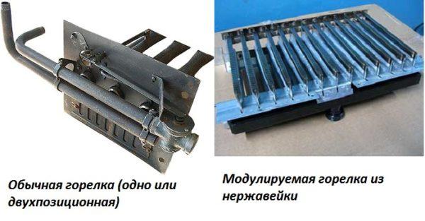 Типы газовых горелок для настенных котлов