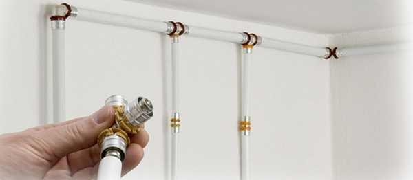 Пример разводки труб отопления из металлопластика