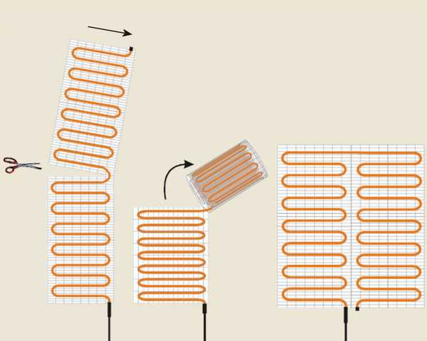 Как развернуть кабельный мат в любом направлении