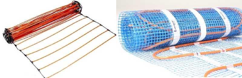 Карбоновый (слева) и кабельный (справа) мат