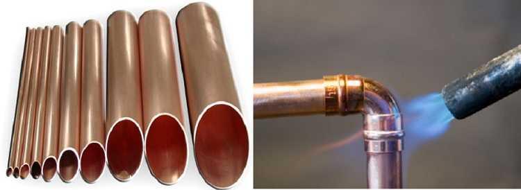 Медные трубы  для отопления -  дорого, но не идеально