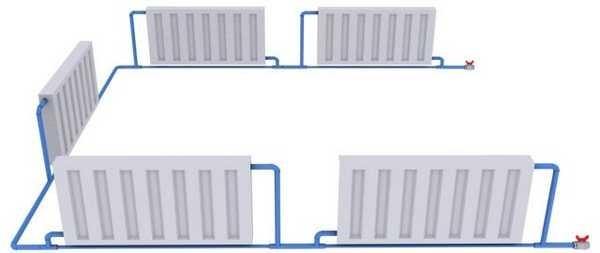Простейшая однотрубная система - оптимальный вариант для водяного отопления теплицы