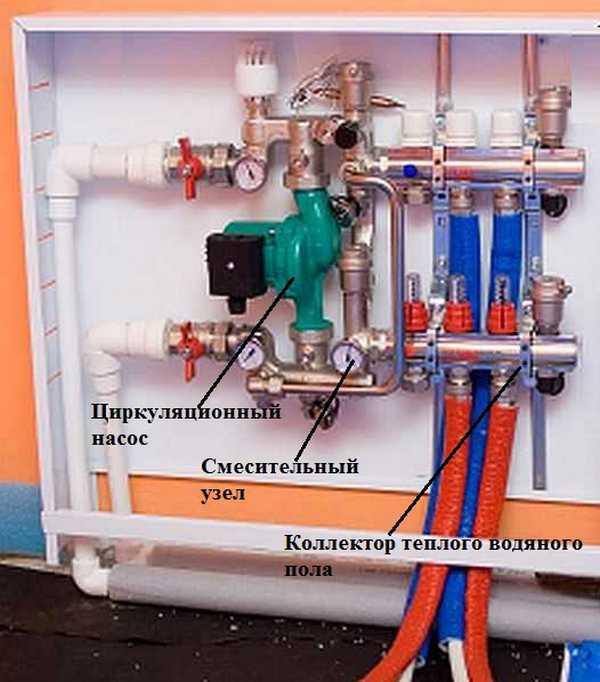 Коллектор валтек для теплого пола схема подключения