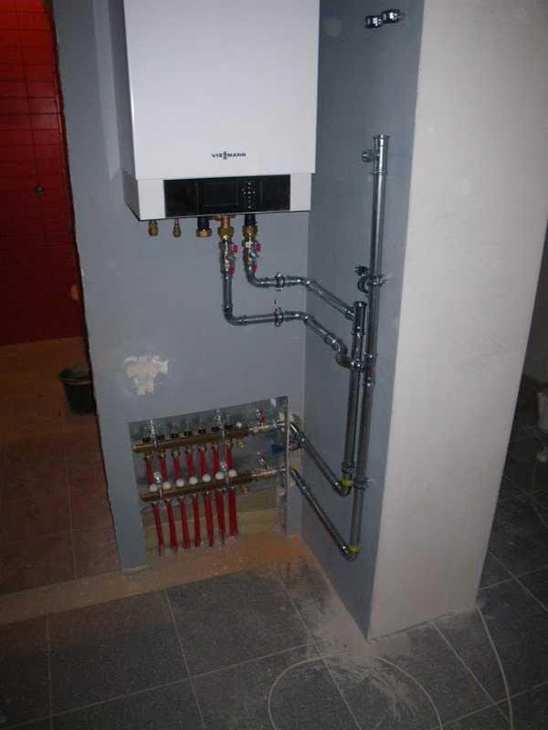 Так подключается настенный агрегат к системе водяного теплого пола