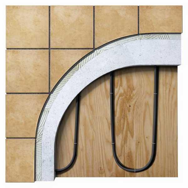 Резистивные или саморегулирующиеся кабели тоже неплохо себя чувствуют под кафелем, но их укладка занимает больше времени