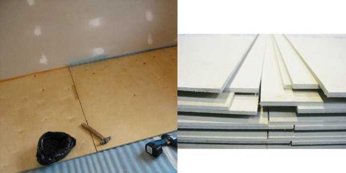 Для сухой стяжки лучше все-таки использовать ГВЛ - он безопасен на 100%
