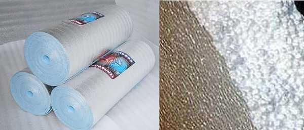 Полиэтилен в плитах или рулонах - не лучший вариант под стяжку теплого пола