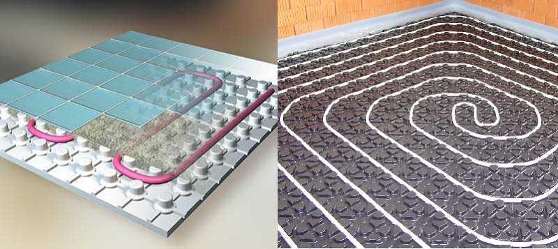 Еще два способа крепления труб в полистирольных плитах с готовыми каналами