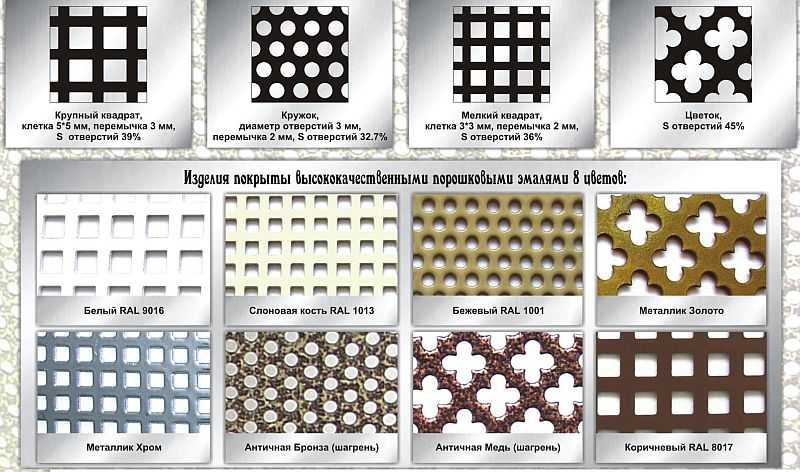 Одно из предложений фирм, занимающихся изготовлением металлических экранов