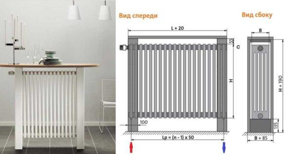 Внешний вид и параметры Purmo DELTA Bar — радиатора-скамьи