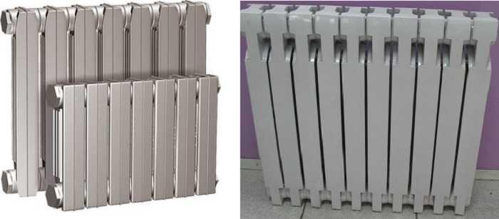 И это чугунные радиаторы, но такой тип уже можно поставить в современный интерьер, хоть вес у них остается немалым