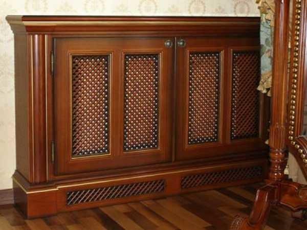 Приставные декоративные решетки часть делают в виде предметов мебели