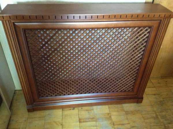 Деревянные решетки на радиаторы - классика жанра