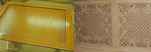 Узорная или перфорированная плоская решетка чаще используется для радиаторов, установленных в нише