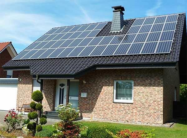 Солнечные батареи для частного дома в некоторых странах - обычное явление