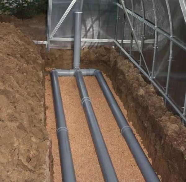 Подогрева земли в теплице при помощи труб