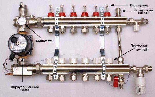 Регулировка температуры теплого водяного пола