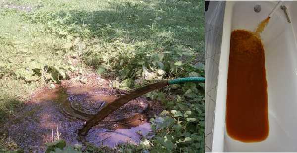 Вот такая вода будет бежать сначала из системы отопления