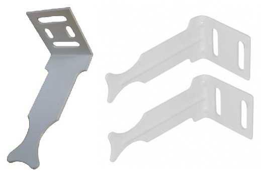 Специальные угловые кронштейны для легких секционных радиаторов