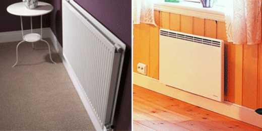 Панельные масляные радиаторы могут быть настенными или напольными
