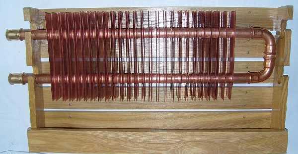 Медные радиаторы по строению ничем не отличаются, только используется чистая медь
