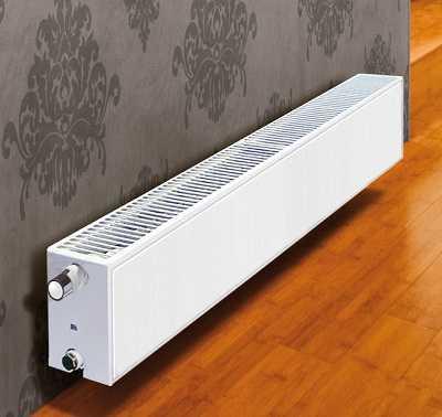 Стальные панельные радиаторы бывают очень низкими