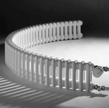 Трубчатые радиаторы могут иметь нелинейную форму