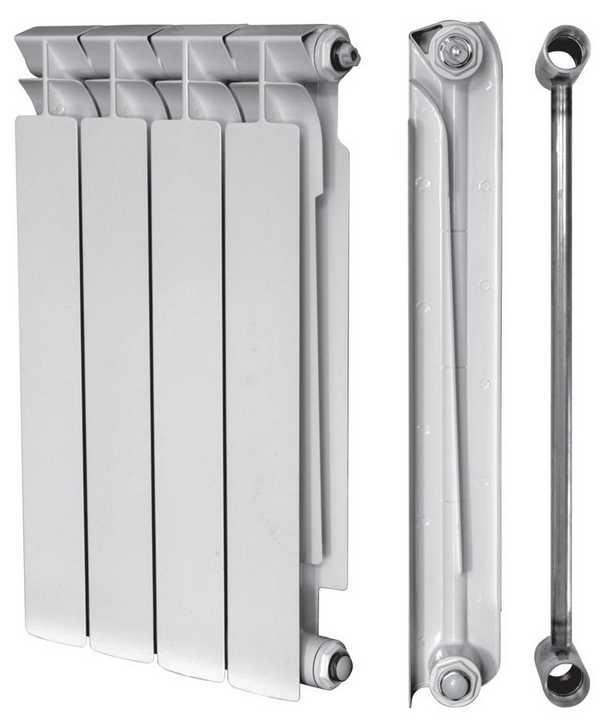 Биметаллические радиаторы состоят из стального каркаса и алюминиевых ребер, наплавленных на него