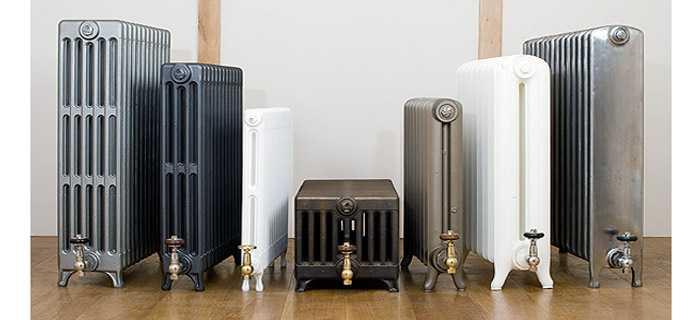 Самые высокие чугунные радиаторы - в районе одного метра