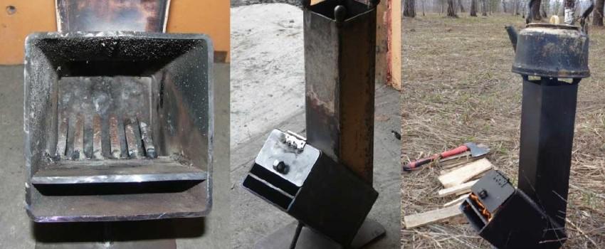 Портативная печь Робинзон: испытания в гараже и на охоте