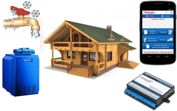 Управление котлом по GSM - возможность оптимального расходования топлива