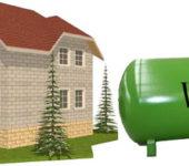 Можно примерно рассчитать объем емкости газгольдера по размерам дома и материалу наружных стен