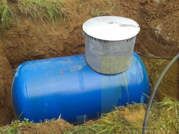 Под горизонтальный газгольдер требуется большой котлован