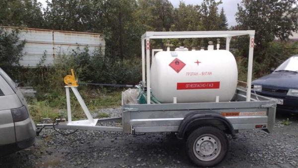 Передвижной газгольдер - решение для временного газоснабжения небольшого частного загородного дома или для дачи