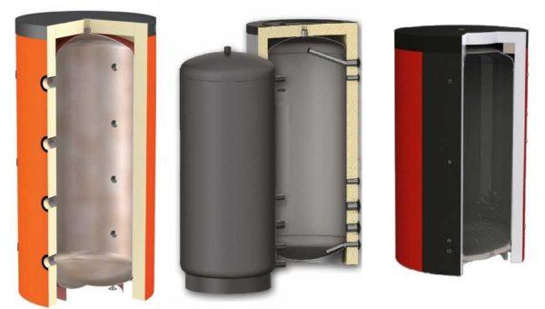 Теплоаккумулятор без теплообменника - это просто герметичная утепленная емкость с патрубками для подключения котла и потребителей
